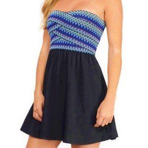 Tobi Dress Strapless Molded Elastic Lined Weave S